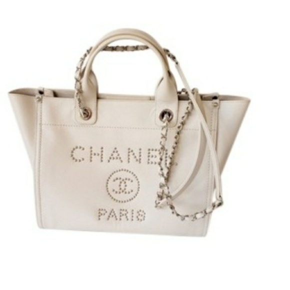 67a2d96758c7 CHANEL Handbags - Chanel Deauville 18k Silver Studded Grained Caviar